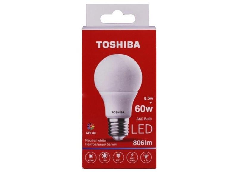Лампочка Toshiba A60 Blub 8.5W CRI 80 ND 4000K E27 00101315914A