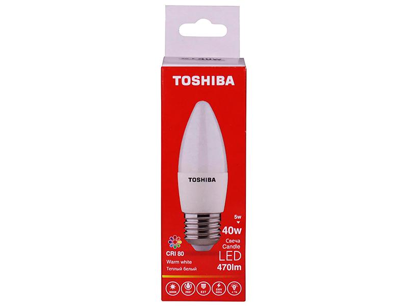 Лампочка Toshiba C35 Candle 5W CRI 80 ND 3000K E27 00501315921A