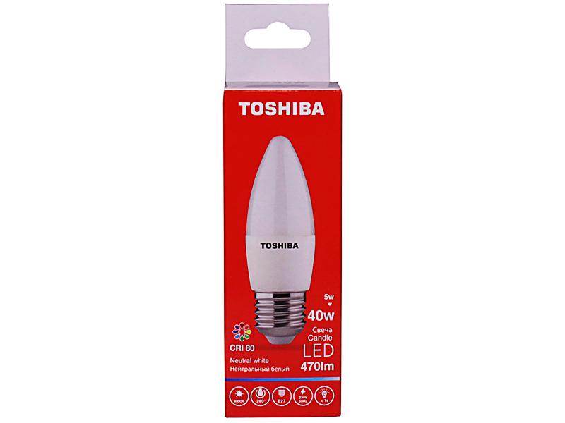 Лампочка Toshiba C35 Candle 5W CRI 80 ND 4000K E27 00501315922A