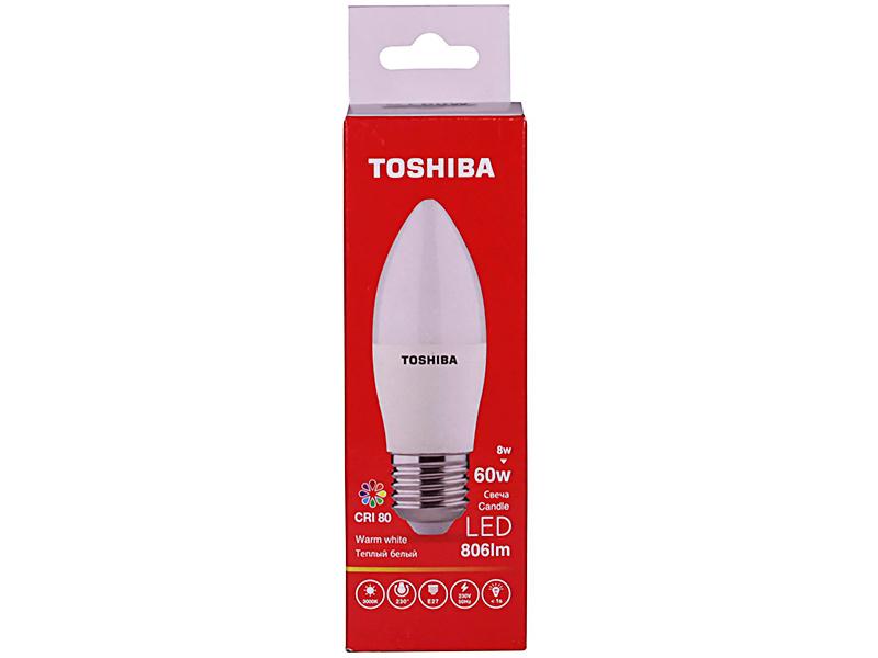 Лампочка Toshiba C39 Candle 8W CRI 80 ND 3000K E27 00501315923A