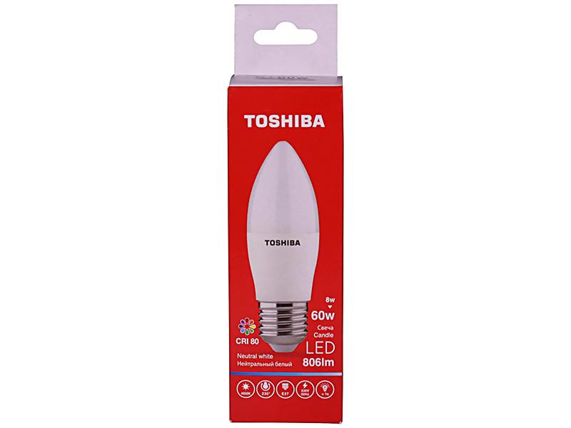 Лампочка Toshiba C39 Candle 8W CRI 80 ND 4000K E27 00501315924A
