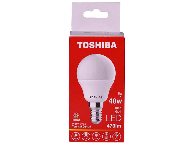 Лампочка Toshiba G45 Golf 5W CRI 80 ND 3000K E14 01301315925A