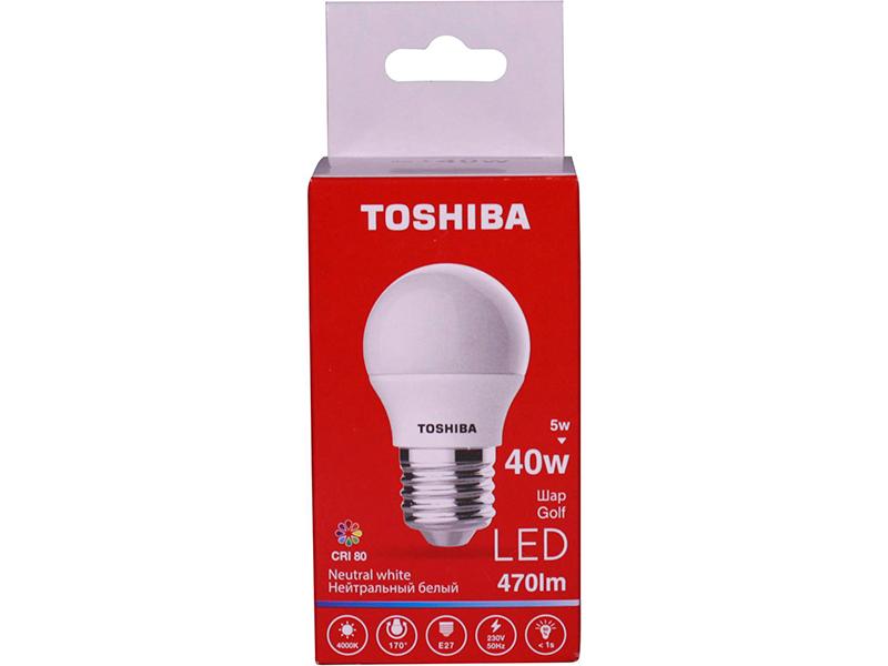 Лампочка Toshiba G45 Golf 5W CRI 80 ND 4000K E27 01301315930A