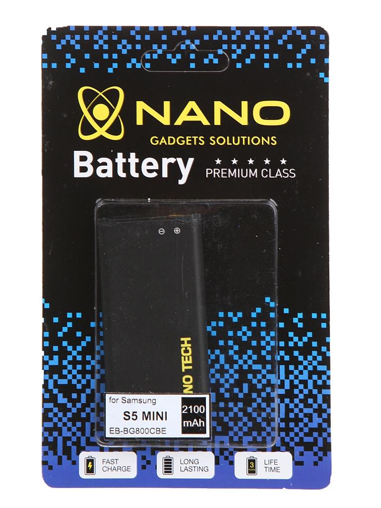 Аккумулятор Nano Original Battery для Samsung SM-G800F Galaxy S5 Mini 2100mAh EB-BG800CBE