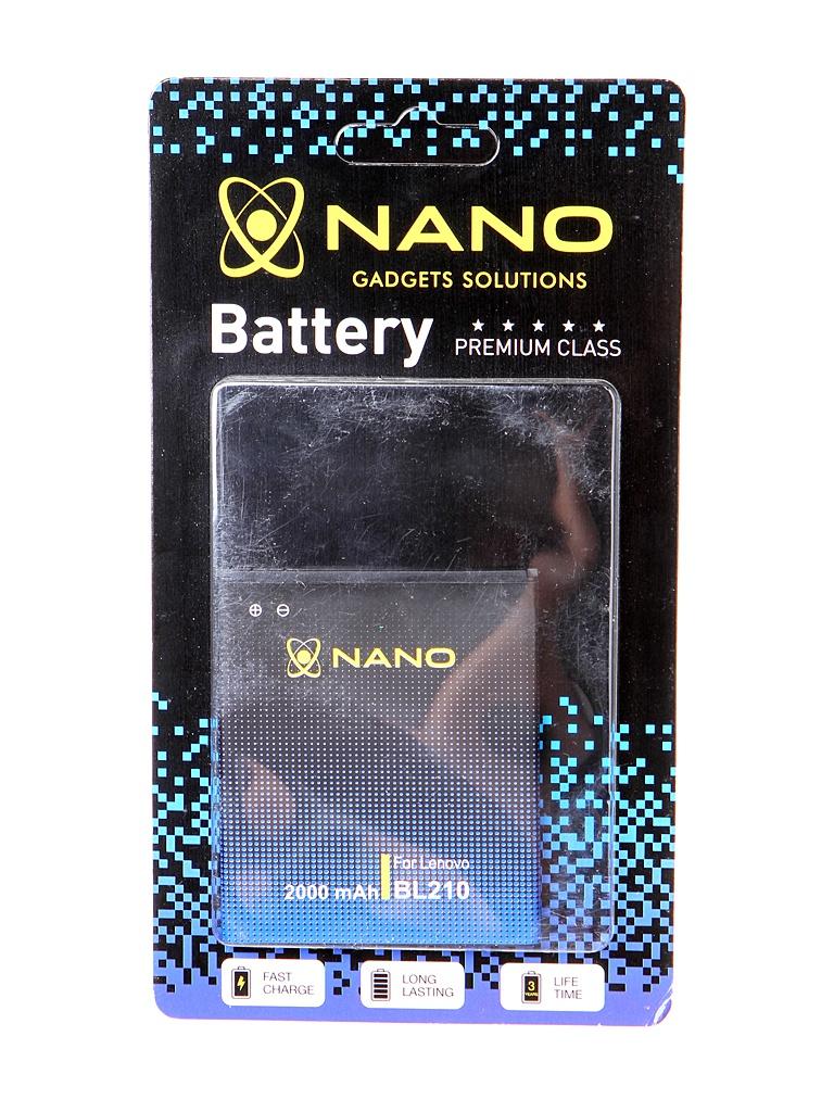Аккумулятор Nano Original Battery для Lenovo S820 / S650 A656 2000mAh BL 210