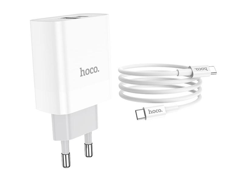 Зарядное устройство Hoco C80A Rapido 1xUSB 1xType-C PD QC3.0 + кабель Type-C -