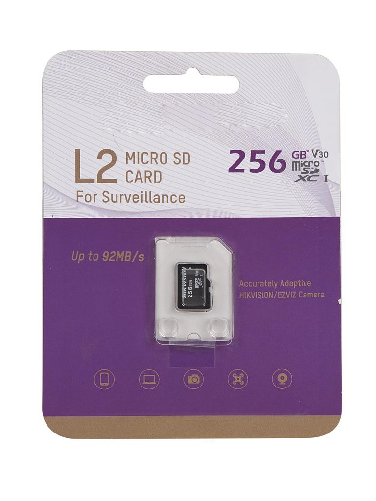 Карта памяти 256Gb - HikVision MicroSDXC L2 Class 10 UHS-I V30 TLC HS-TF-L2/256G