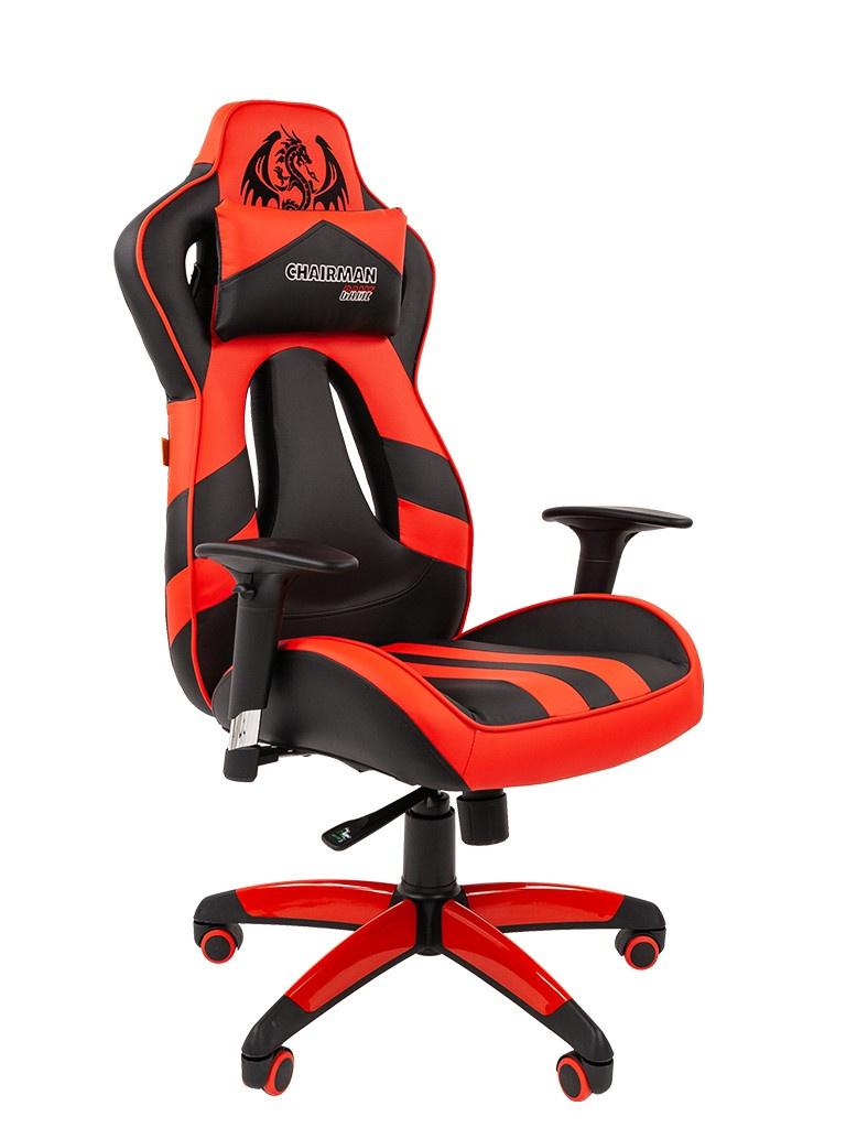 Компьютерное кресло Chairman Game 25 Black-Red 00-07054931