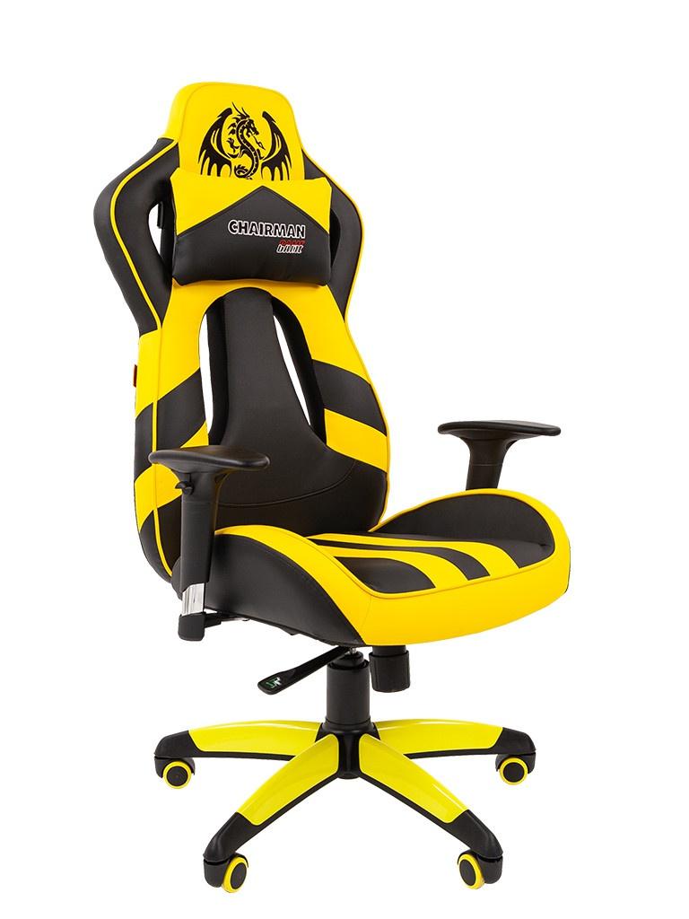 Компьютерное кресло Chairman Game 25 Black-Yellow 00-07054100