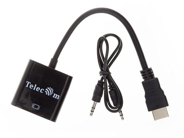 Аксессуар Telecom HDMI/M - VGA/F + аудио 0.2m TA559