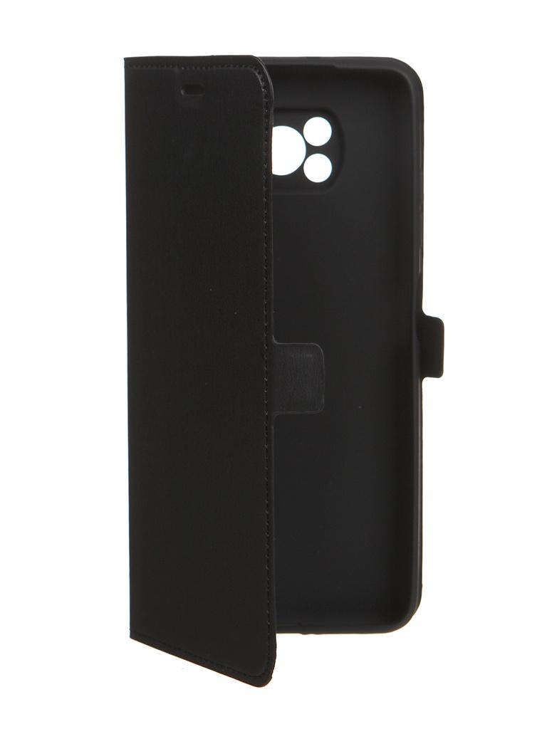 Чехол DF для Xiaomi Poco X3 Black poFlip-02
