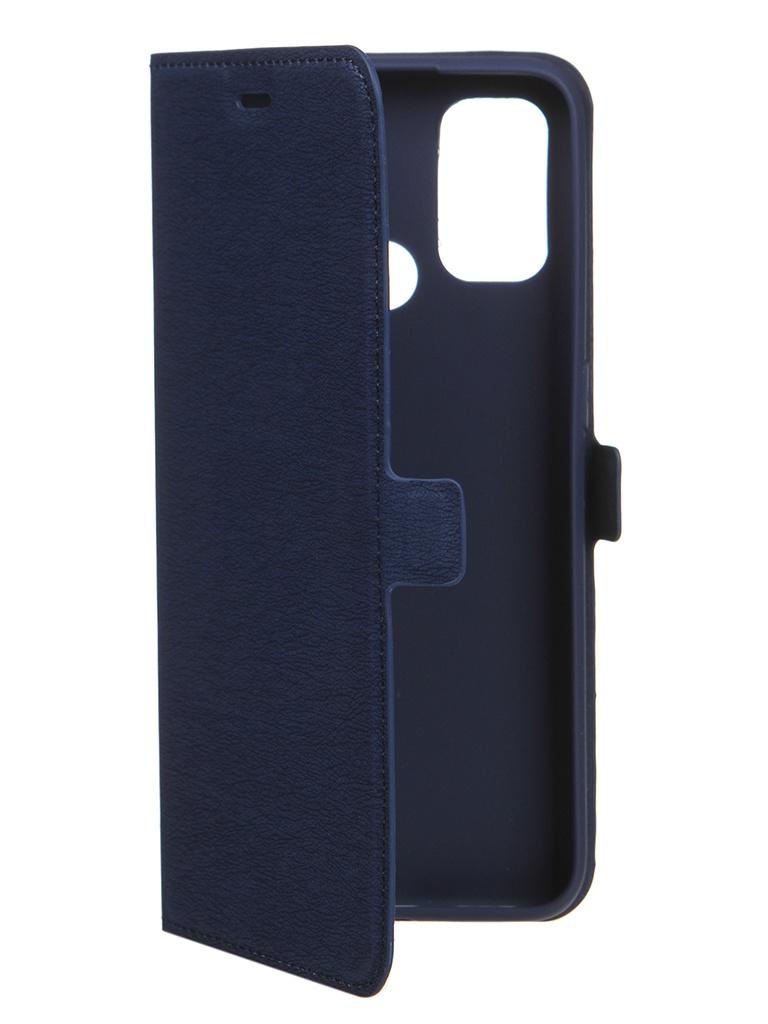 Чехол DF для Oppo A53 Blue oFlip-12