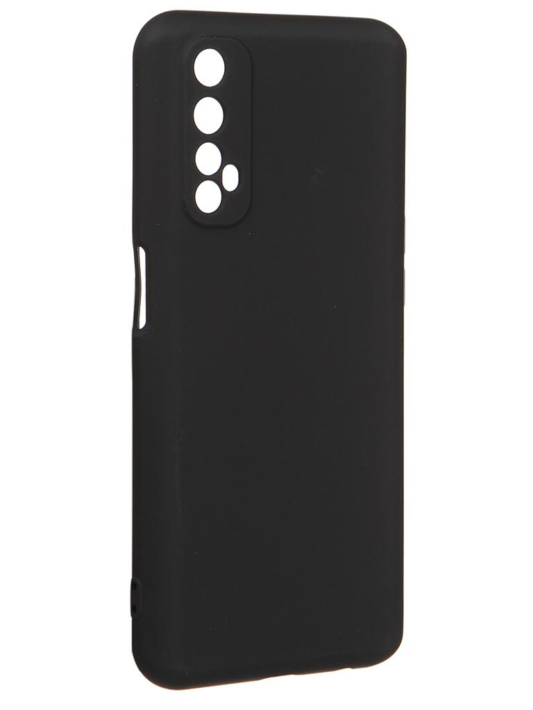 Чехол с микрофиброй DF для Realme 7 Silicone Black rmOriginal-08