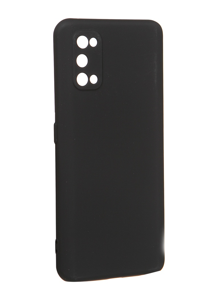Чехол с микрофиброй DF для Realme 7 Pro Silicone Black rmOriginal-09