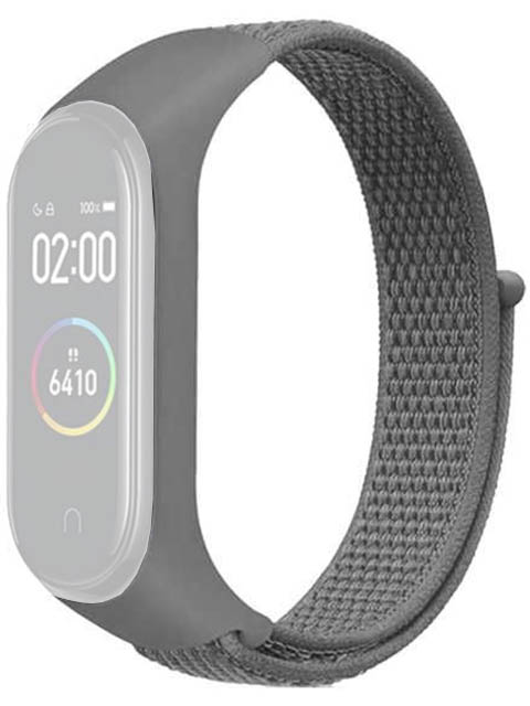 Aксессуар Ремешок DF для Xiaomi Mi Band 3 / 4 5 Nylon Grey xiNylonband-01