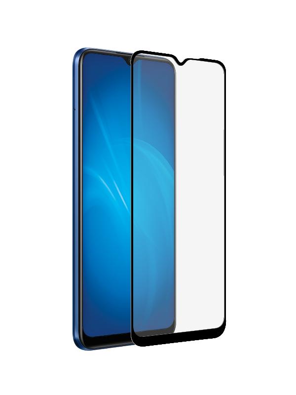 Закаленное стекло DF для Realme C15 Fullscreen+Fullglue Black rmColor-11