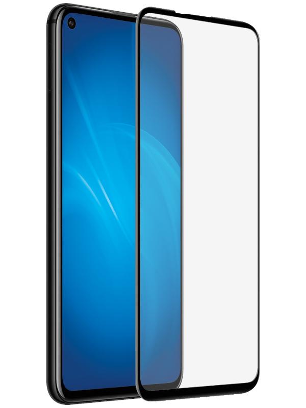 Закаленное стекло DF для Realme 7 Pro Fullscreen+Fullglue Black rmColor-13