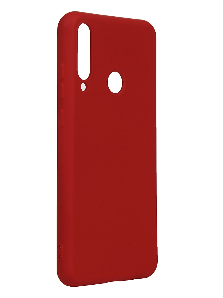 Чехол DF для Huawei Y6p Silicone Red hwOriginal-15