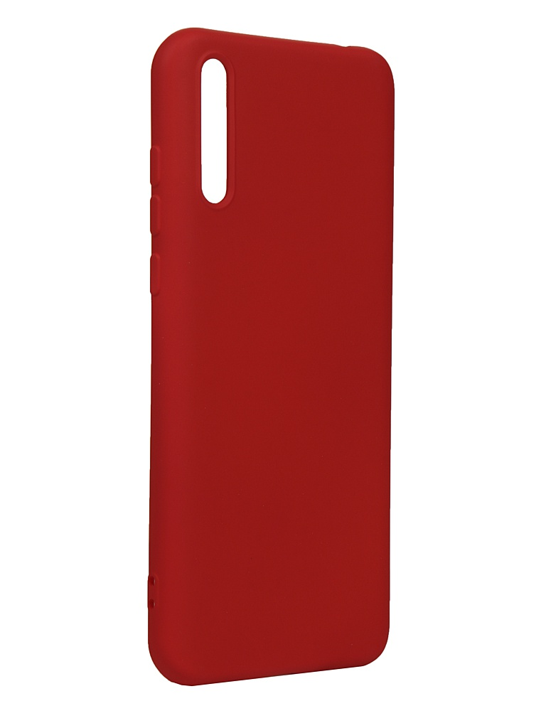 Чехол DF для Huawei Y8p Silicone Red hwOriginal-16