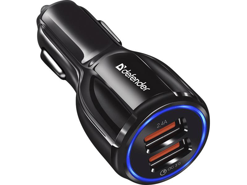 Зарядное устройство Defender UCA-100 2xUSB QC3.0+2.4A 83833