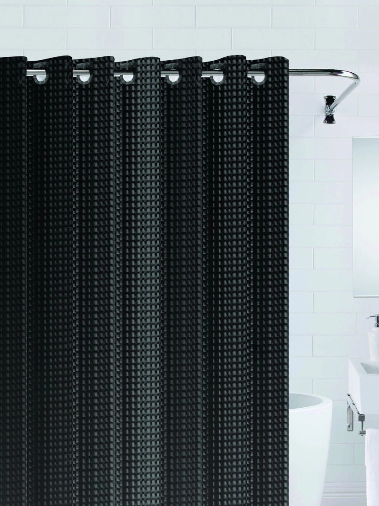 Шторка Bath Plus 3D 180x200cm Black NFD-3D-black