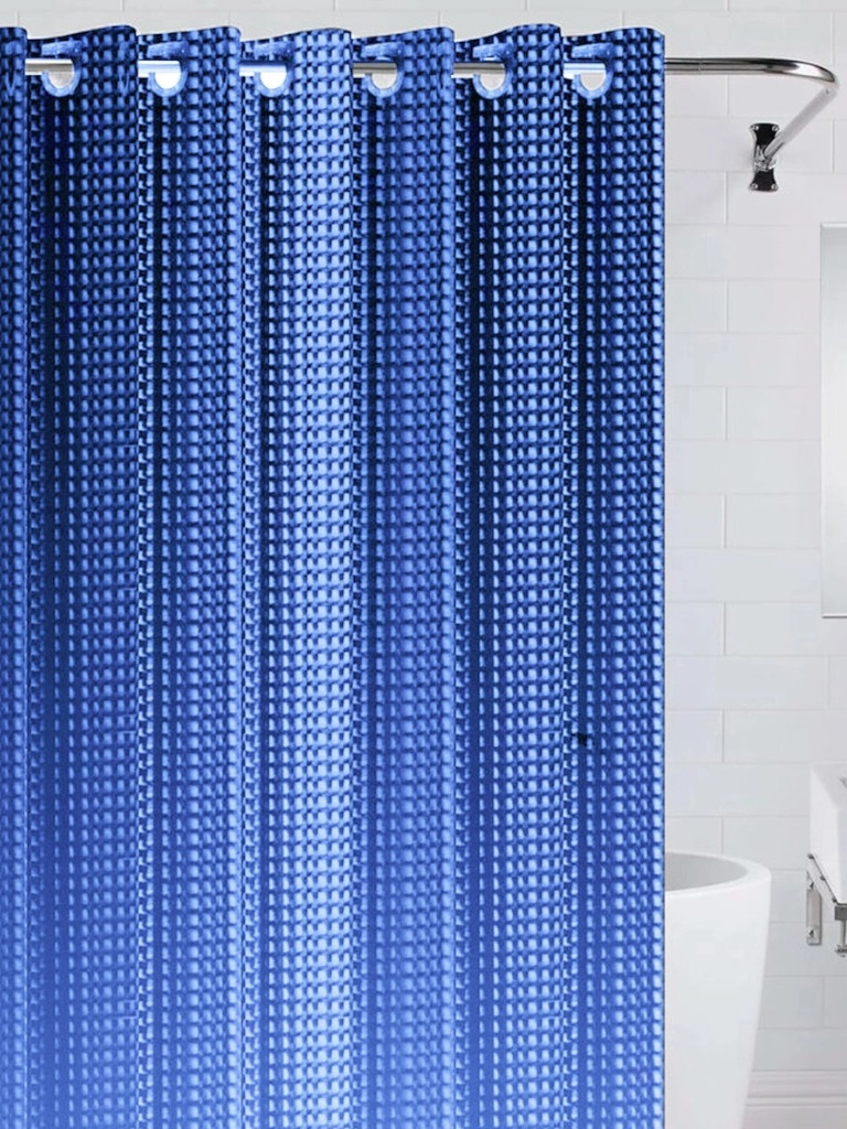 Шторка Bath Plus 3D 180x200cm Blue NFD-3D-dark blue