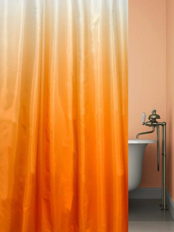Шторка Bath Plus Rosy Down 180x180cm Orange-Red 2151/2