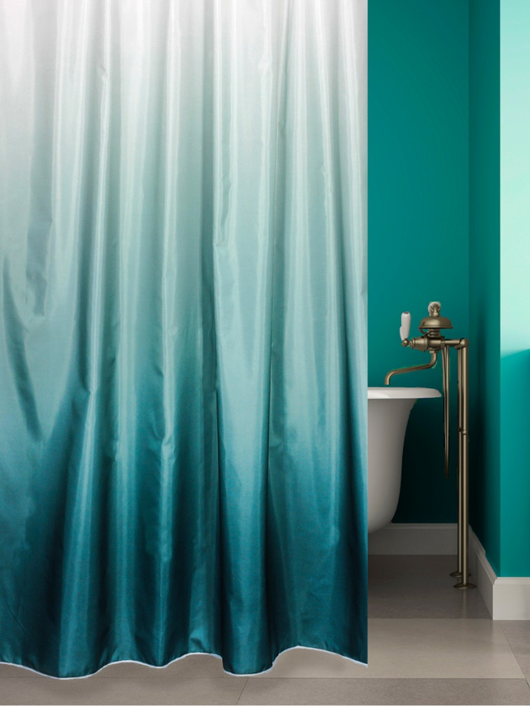 Шторка Bath Plus Rosy Down 180x180cm Dark Green 2151/1