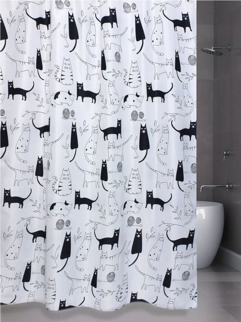 Шторка Bath Plus Little Black Cat 180x180cm ch-12256