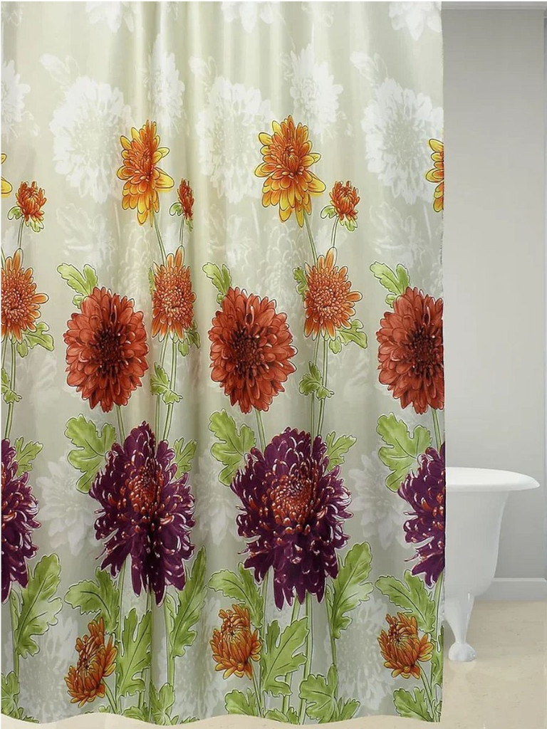 Шторка Bath Plus Autumn Chrysanthem 180x180cm ch-21268