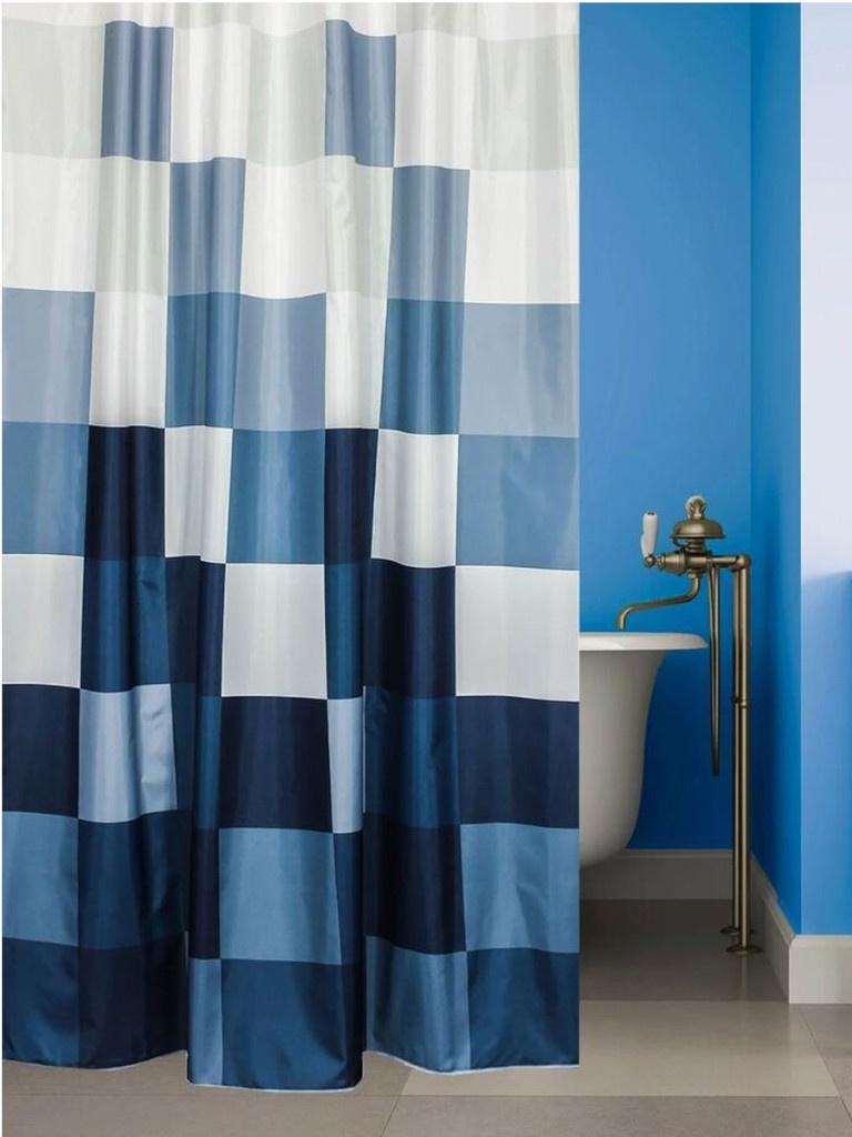 Шторка Bath Plus Rubiks Cube 180x180cm Grey-Blue ch-21289