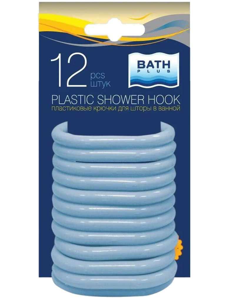 Кольца для штор Bath Plus AK-02 12шт Light Blue