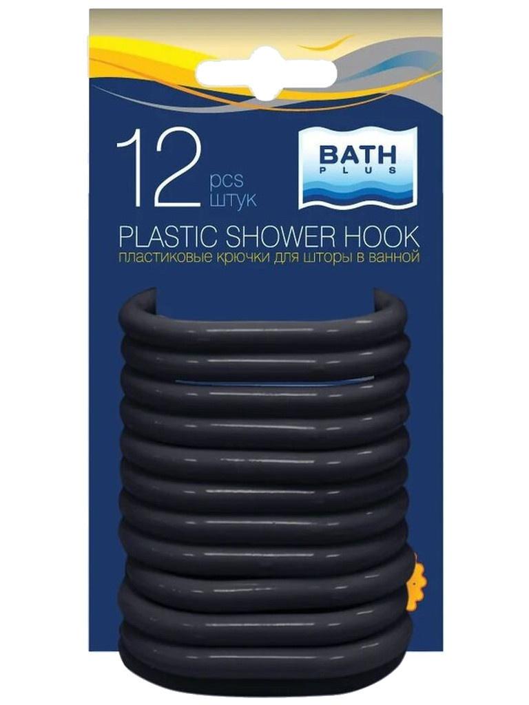 Кольца для штор Bath Plus AK-05 12шт Black