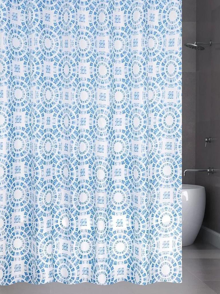 Шторка Bath Plus Circle 180х200cm Light Blue ch15100