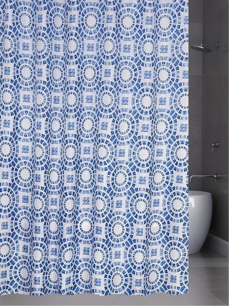 Шторка Bath Plus Circle 180х200cm Blue ch15080