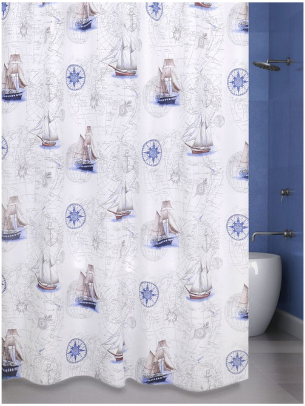 Шторка Bath Plus Blue Boats 180х200cm ch17049