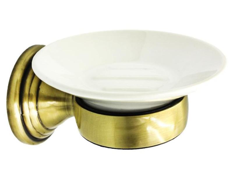 держатель для полотенец bath plus bronx gold bxg 65711 Держатель с мыльницей Bath Plus Bronx Gold BXG-65708