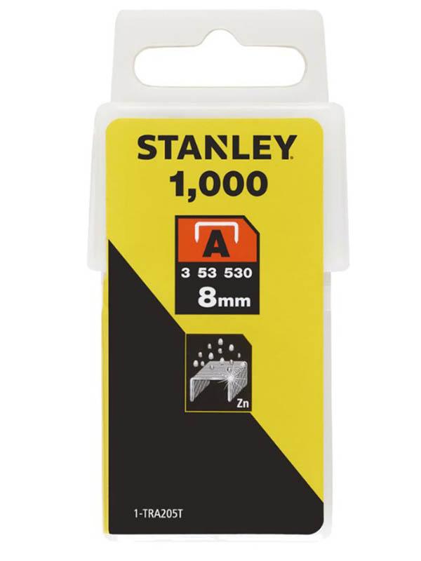 Скобы Stanley тип 53 8mm 1000шт 1-TRA205T