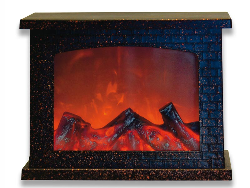 Светильник Uniel ULD-L2821-005/DNB/Red-Brown Fireplace