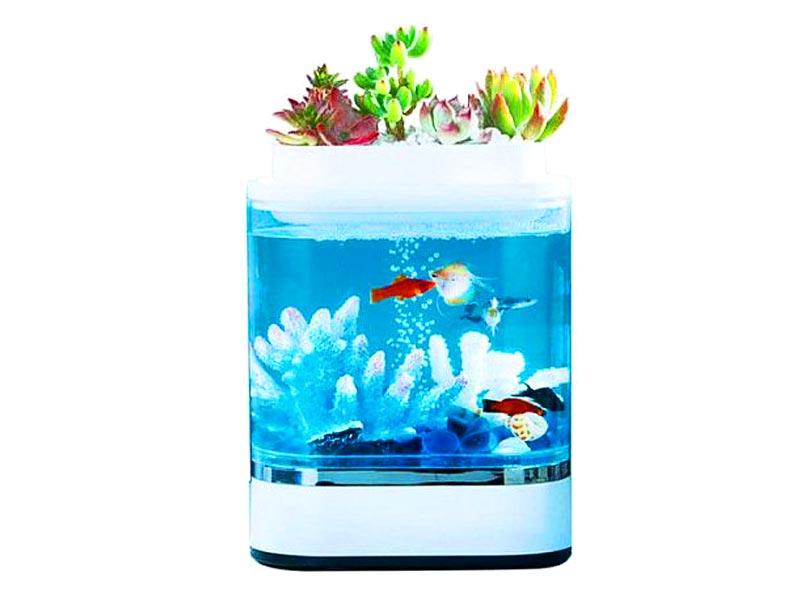 Аквариум Xiaomi Geometrc Lazy Fish Tank HF-JHYG005