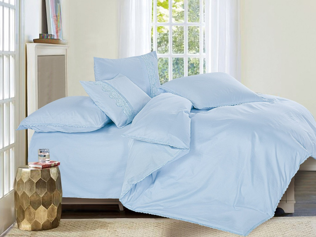 Постельное белье Cleo Cotton Lace 21/005-LE Комплект 2 спальный Сатин