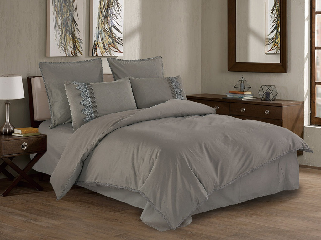 Постельное белье Cleo Cotton Lace 21/006-LE Комплект 2 спальный Сатин