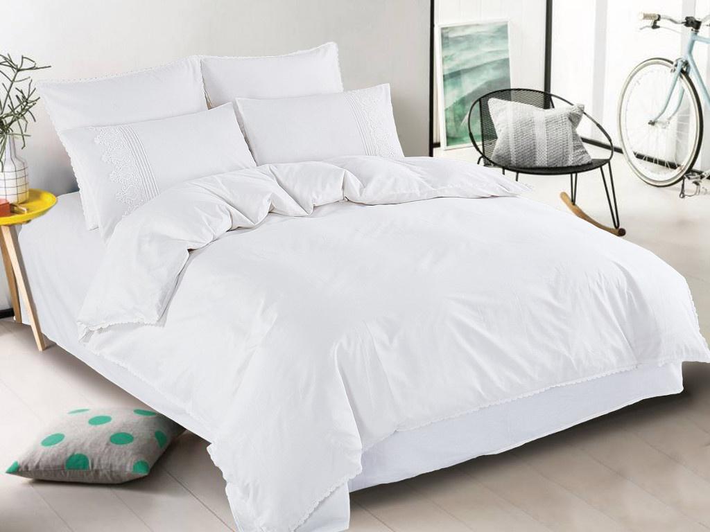 Постельное белье Cleo Cotton Lace 31/001-LE Комплект Евро Сатин