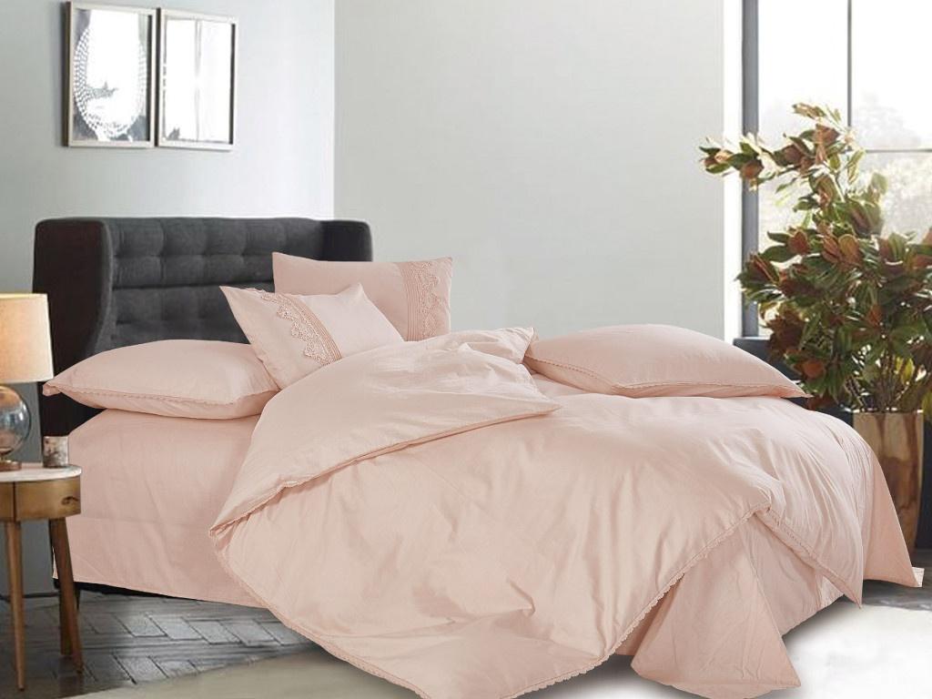 Постельное белье Cleo Cotton Lace 31/002-LE Комплект Евро Сатин