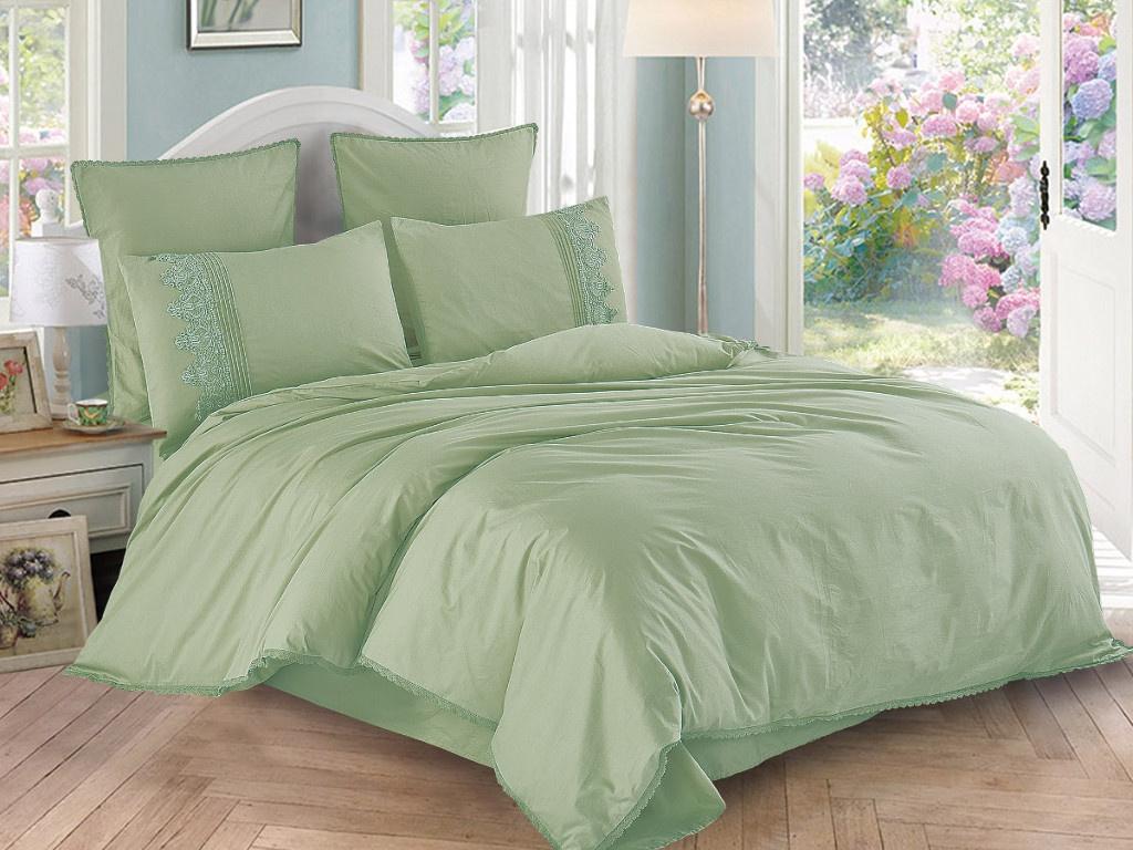 Постельное белье Cleo Cotton Lace 31/004-LE Комплект Евро Сатин
