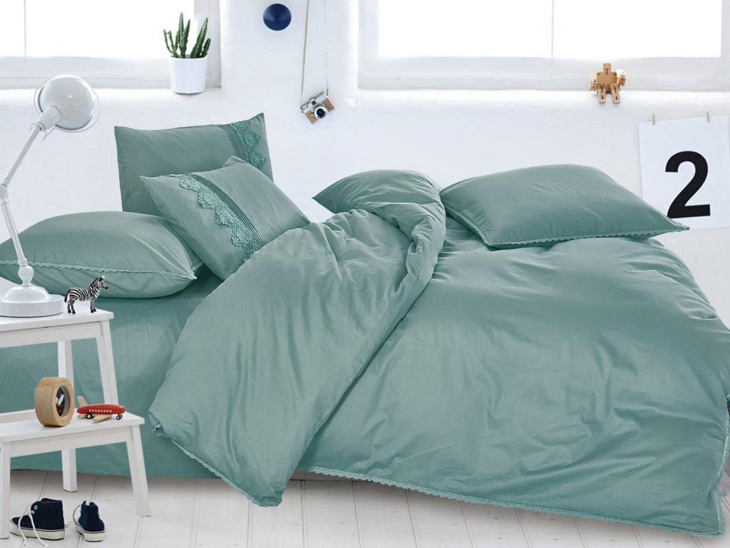 Постельное белье Cleo Cotton Lace 31/011-LE Комплект Евро Сатин