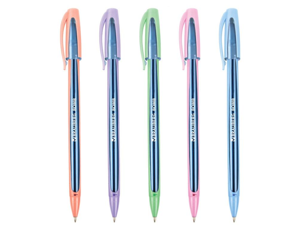 Ручка шариковая Brauberg Bomb GT Pastel стержень Blue 143347