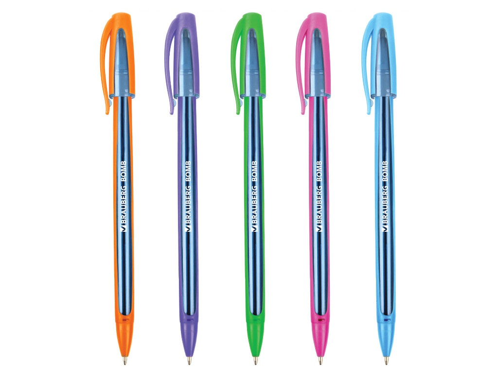 Ручка шариковая Brauberg Bomb GT Color стержень Blue 143346