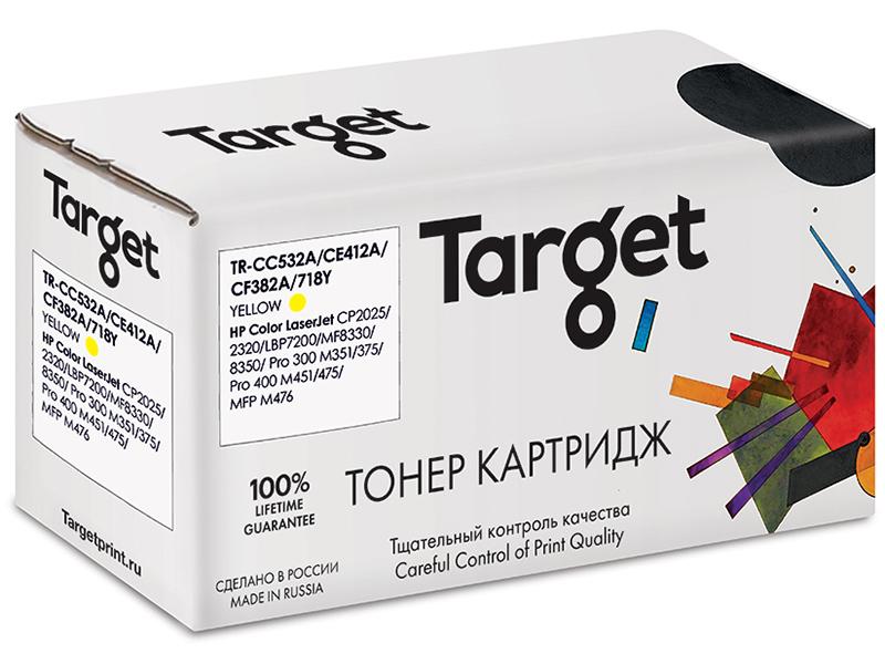 Картридж Target TR-CC532A/CE412A/CF382A/718Y Yellow для HP LJ CP2025/2320/Pro 300 M351/375/Pro 400 M451/475/MFP M476/ Canon i-Sensys LBP7200/MF8330/8350