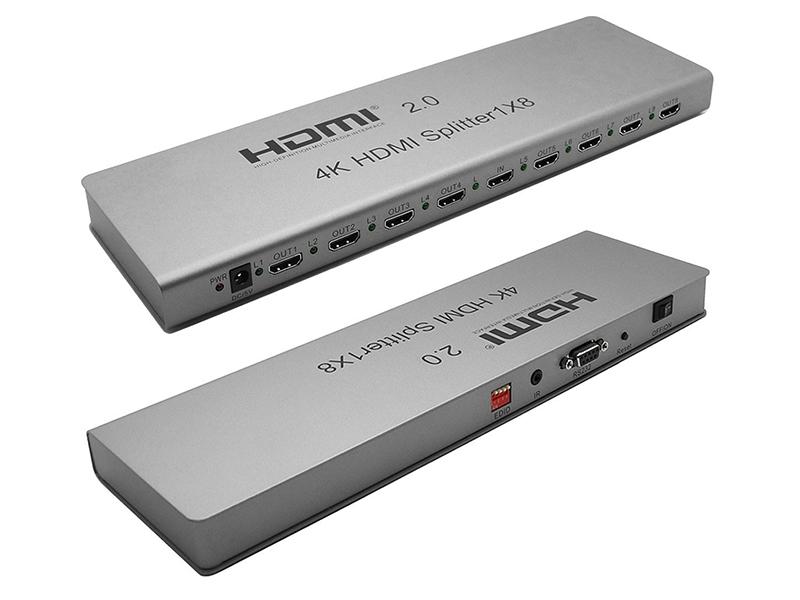 Сплиттер Orient HSP0108H-2.0 HDMI 4K Splitter 1x8 30467